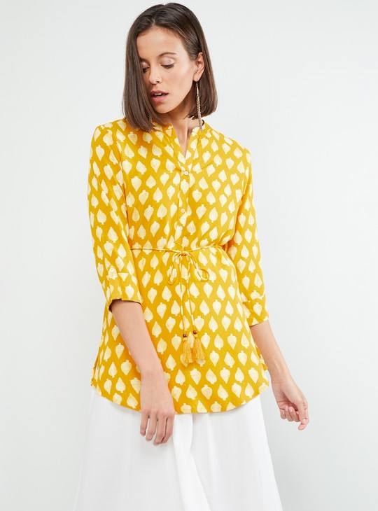MAX Roll-Up Sleeve Printed Tunic