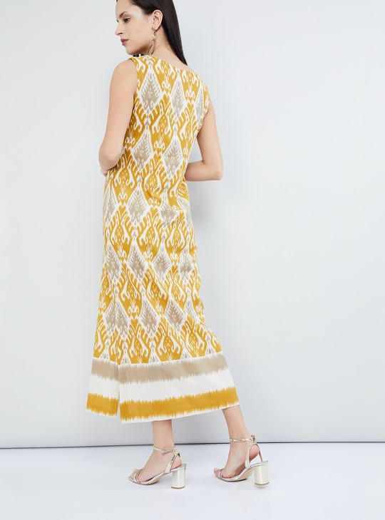 MAX Printed Sleeveless Maxi Dress