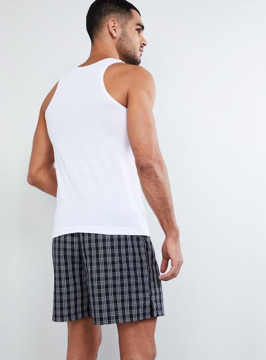 MAX Solid Cotton Racerback Vest