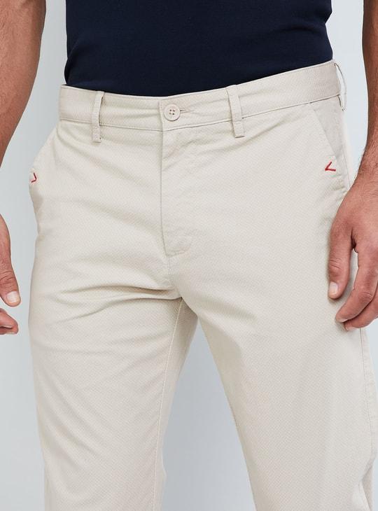 MAX Solid Slim Fit Pants