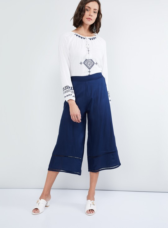 MAX Woven Ladder Lace Culottes