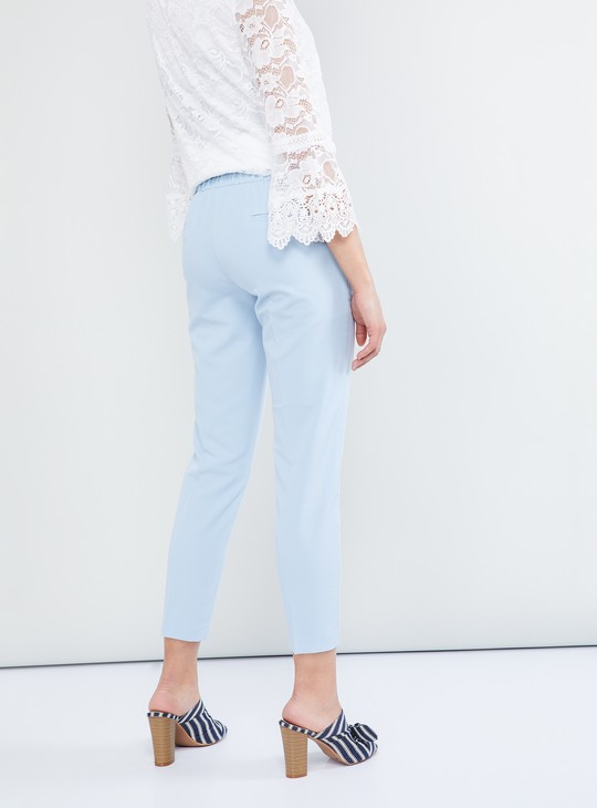 MAX Solid Low Rise Trousers