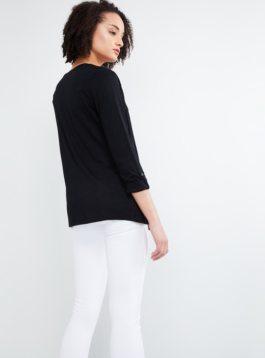 MAX Printed top with Attached Printed Shrug
