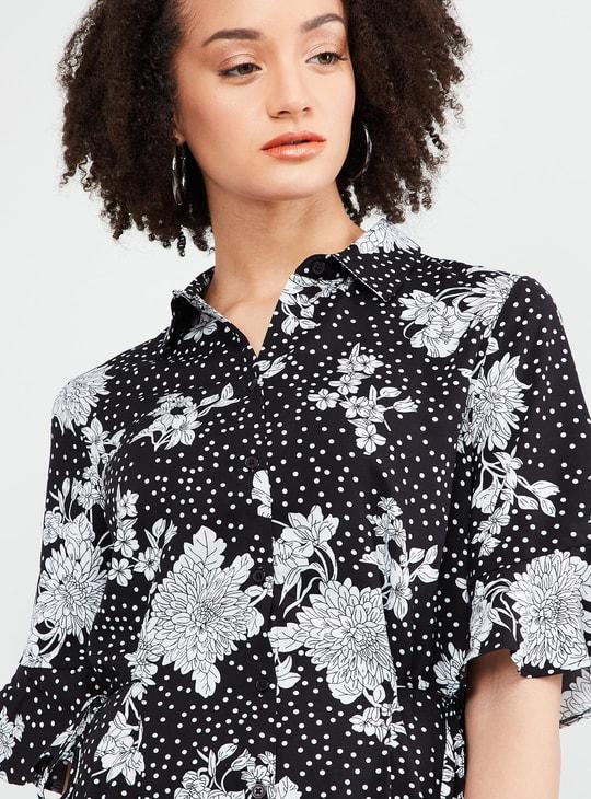 MAX Floral Printed Midi Dress