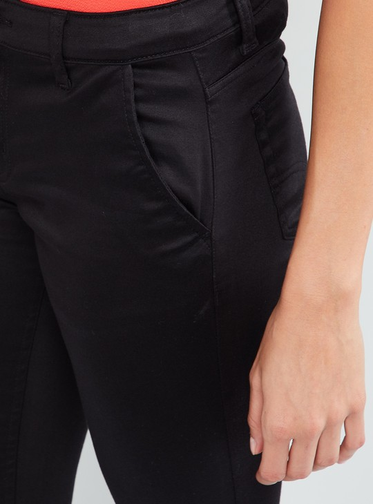MAX Cropped Flat-Front Trousers