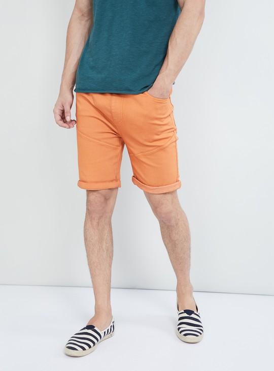 MAX Solid Denim Shorts