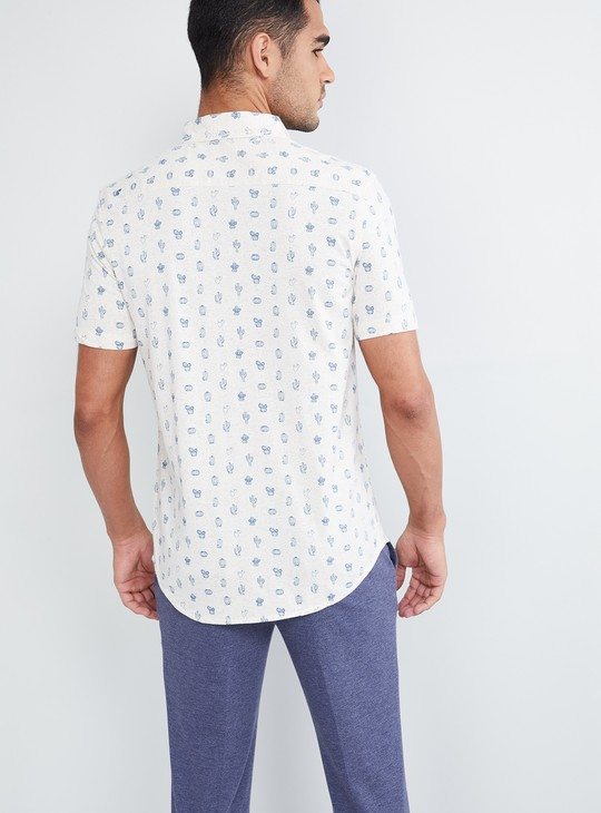 MAX Cactus Printed Short Sleeves Shirt
