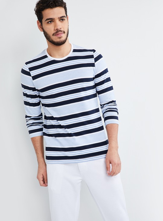 MAX Striped Crew Neck T-shirt