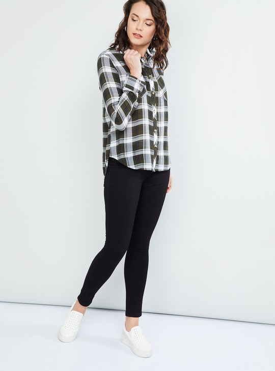 MAX Checked Rolled-Up Sleeves Shirt
