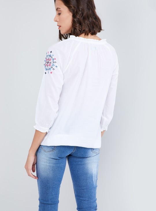 MAX Printed Embellished Top