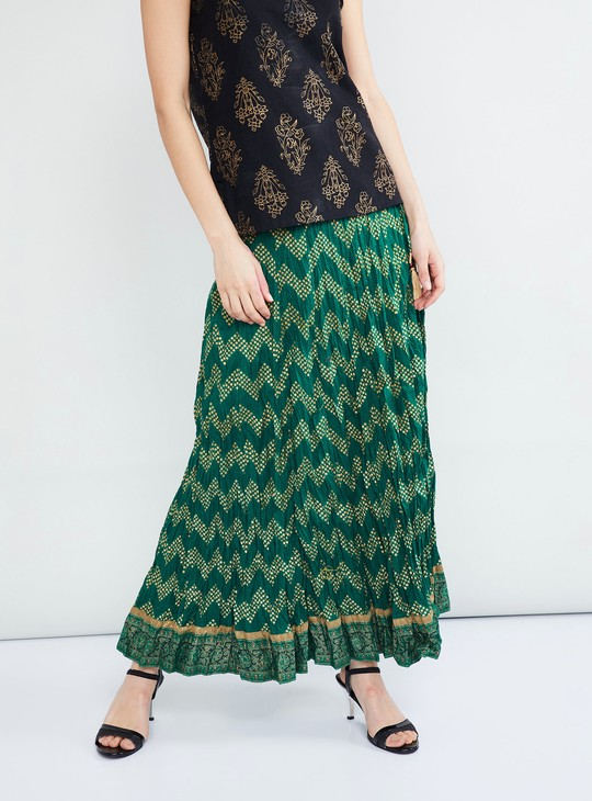 MAX Printed Skirt With Tassel Drops