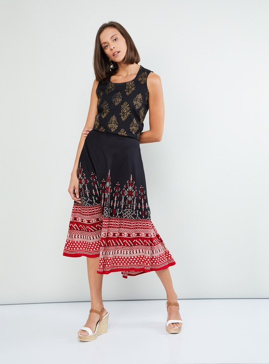MAX Printed Culottes with Elasticated Waistband