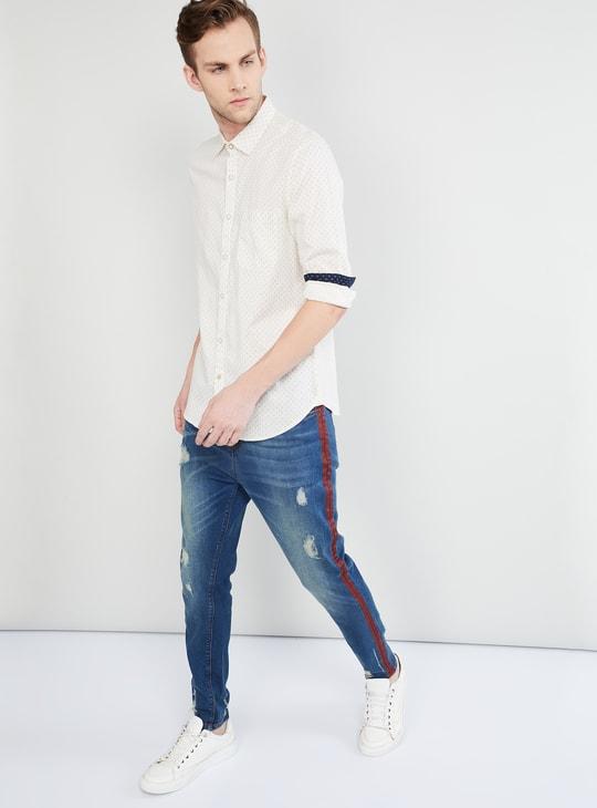 MAX Floral Print Casual Slim Fit Shirt