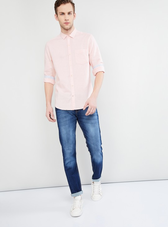MAX Solid Casual Slim Fit Shirt
