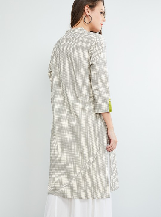 MAX Printed Tri-Quartered Sleeves Kurta
