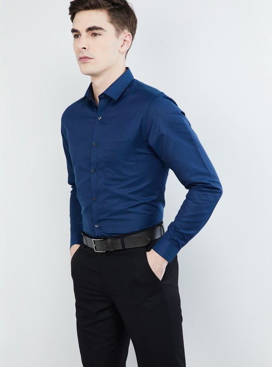 MAX Pinstriped Full Sleeves Shirt