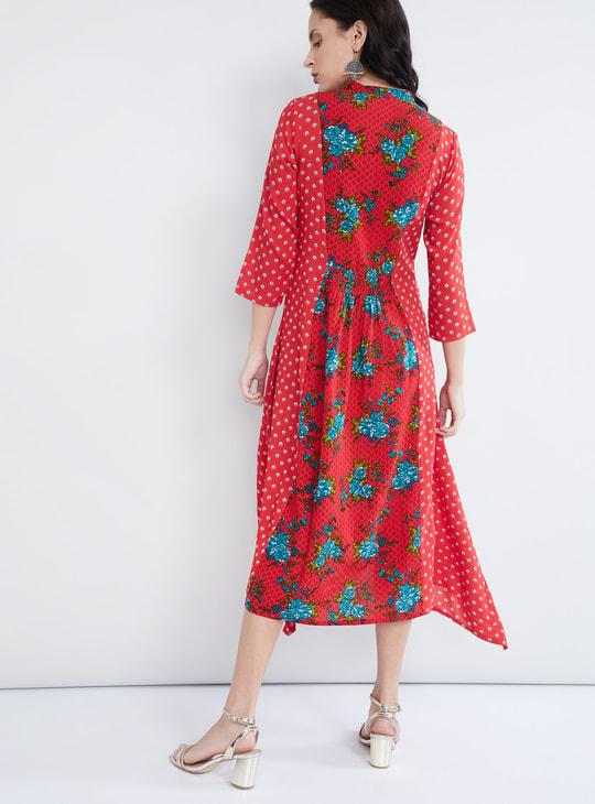 MAX Floral Printed Smocked Waist Dress