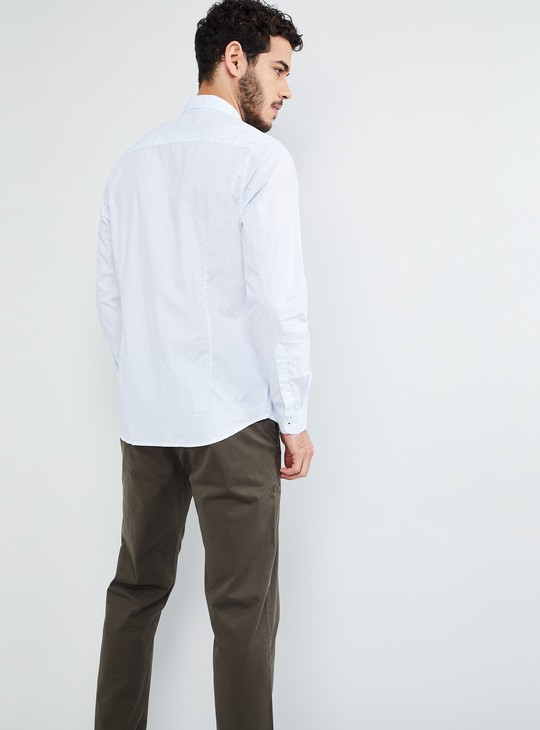 MAX Solid Poplin Full Sleeves Slim Fit Shirt