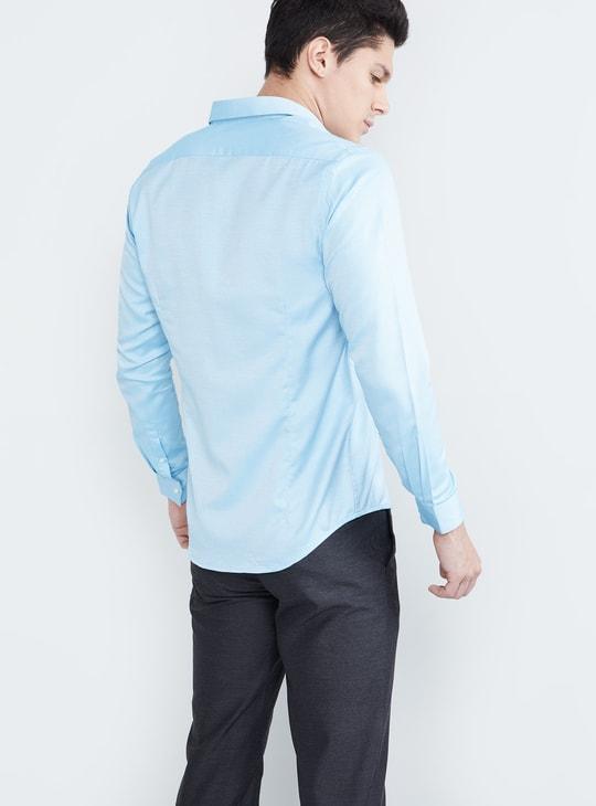 MAX Textured Full Sleeves Shirt