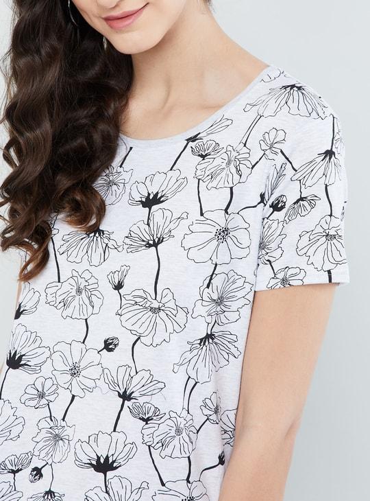 MAX Floral Printed Cap Sleeves Top