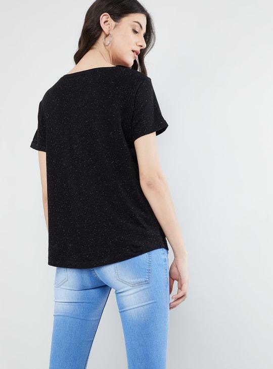 MAX Slub Detail Short Sleeves T-shirt