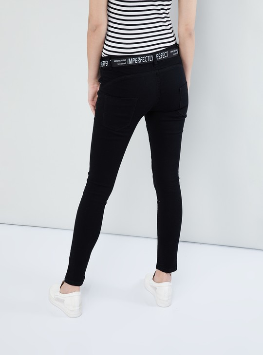 MAX Solid Mildly Distressed Jeans