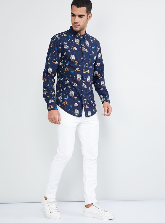 MAX Sea Creatures Printed Full Sleeves Shirt