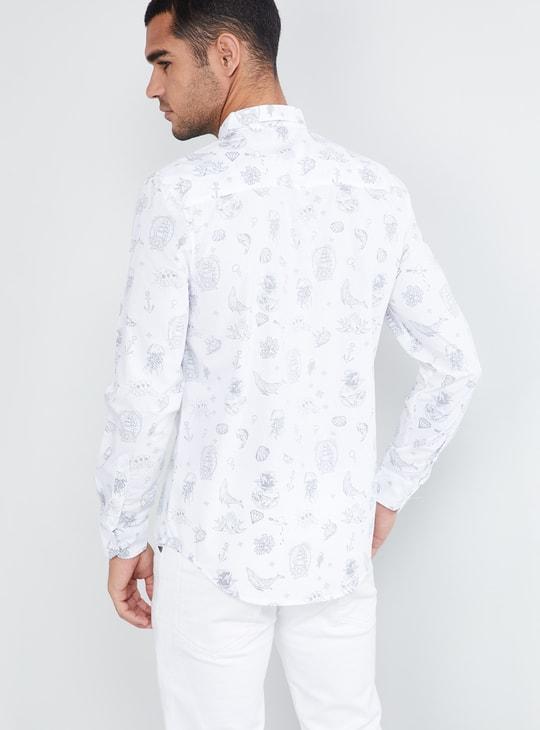 MAX Sea Creatures Printed Full Sleeves Shirt