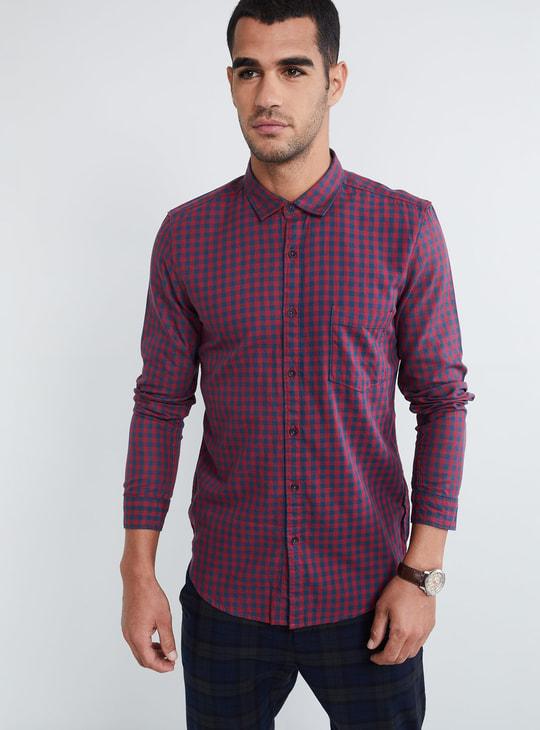 MAX Checked Full Sleeves Slim Fit Shirt