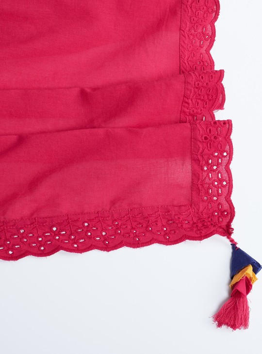 MAX Solid Lace Detail Stole