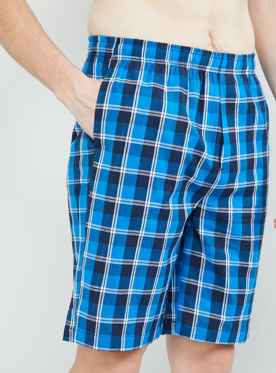 MAX Checked Elasticated Lounge Shorts