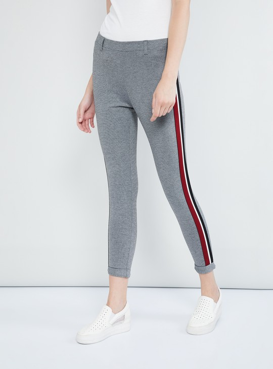 MAX Ankle-Length Pants with Contrast Taping