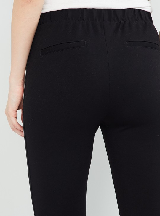 MAX Ankle-Length Jeggings with Contrast Taping