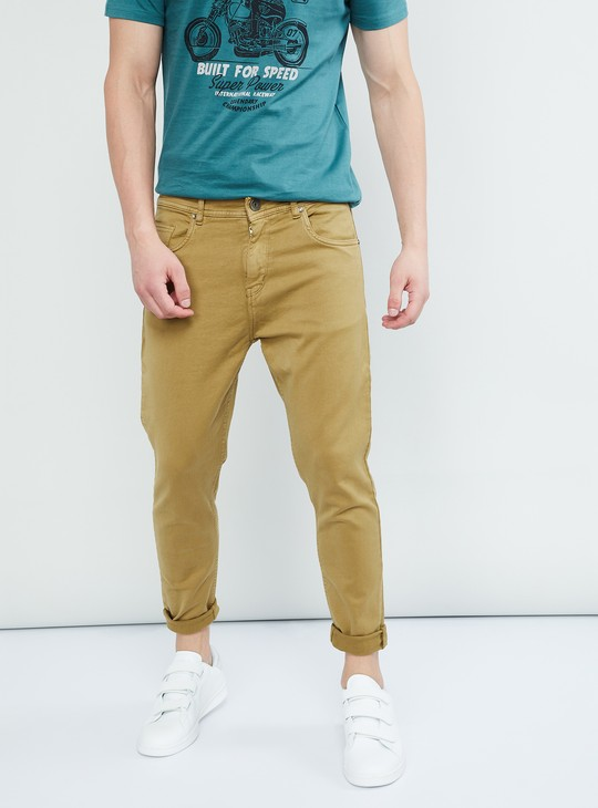 MAX Solid Mid-Rise Slim Fit Jeans