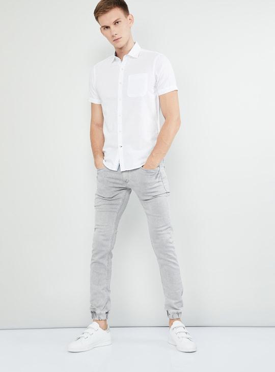 MAX Mid-Washed Skinny Fit Denim Joggers