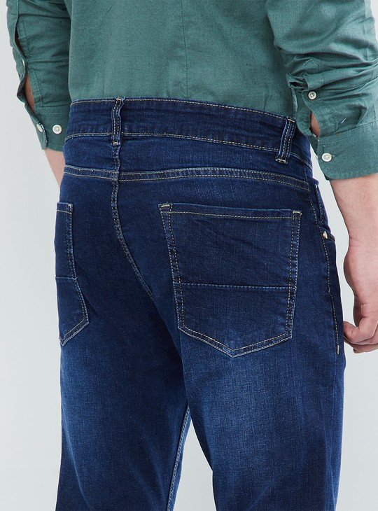 MAX Stonewashed Low-Rise Jeans