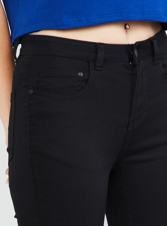MAX Solid Low Rise Skinny Fit Jeans