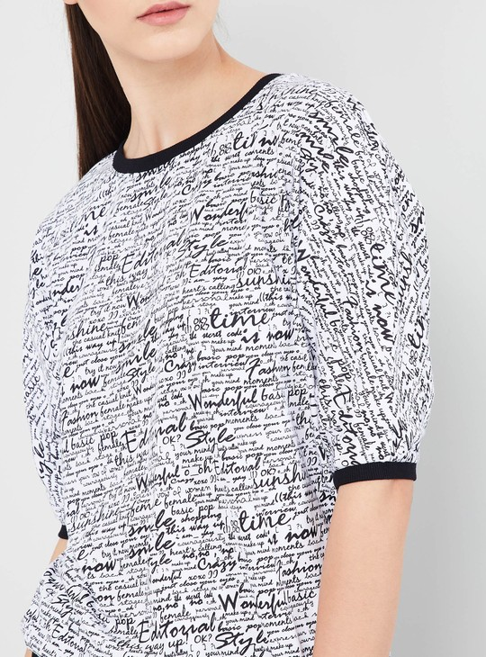 MAX Typographic Print Short Sleeves T-shirt