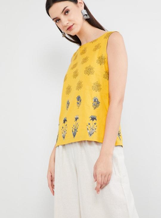 MAX Floral Print Sleeveless Top