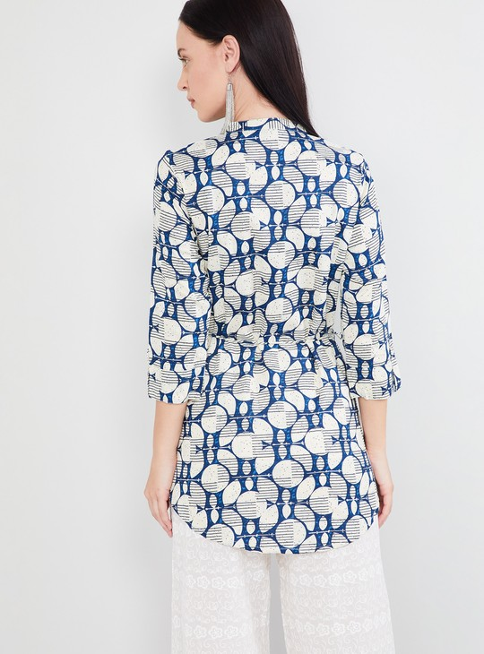 MAX Printed Rolled-Up Sleeves Tunic