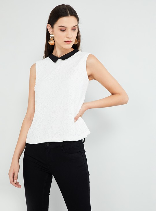 MAX Lace Detailed Sleeveless Top