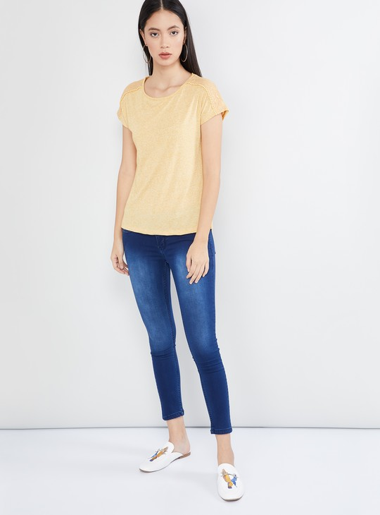 MAX Solid Top with Lace-Inserts