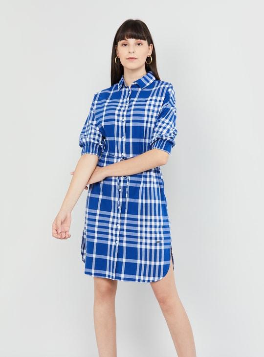 MAX Gingham Check Shirt Dress