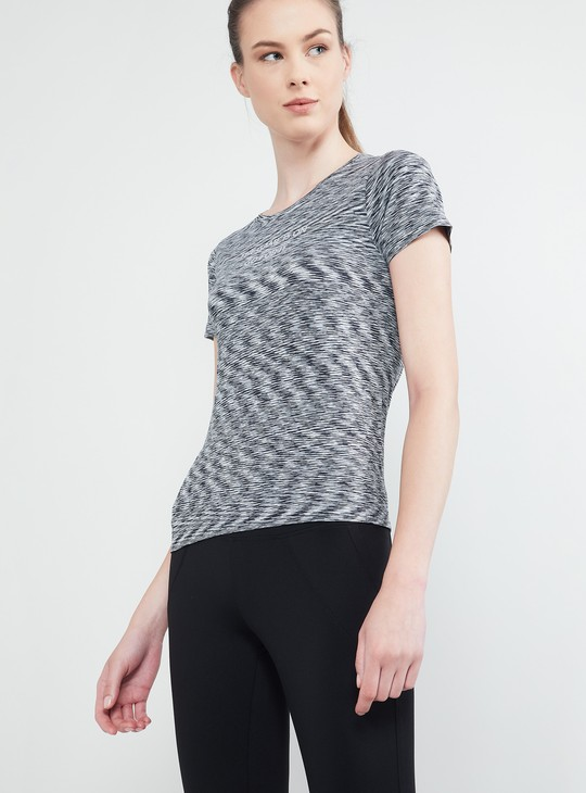 MAX Textured Cap Sleeves Top