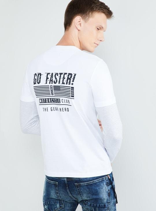 MAX Printed Ultra Slim Fit Crew-Neck T-shirt