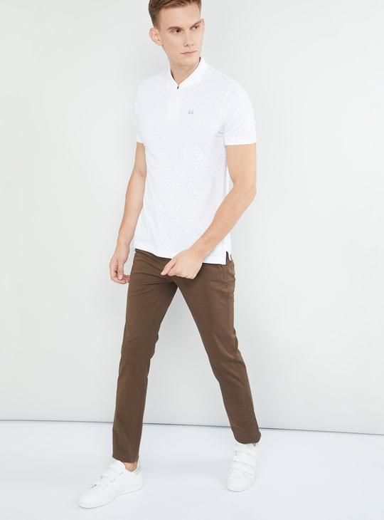 MAX Geometric Print Short Sleeves Polo T-shirt