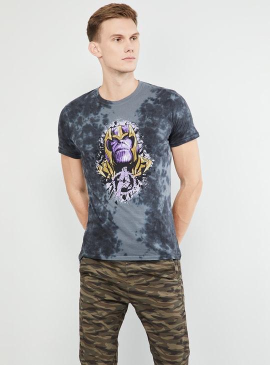 MAX Avengers Thanos Print Crew-Neck T-shirt