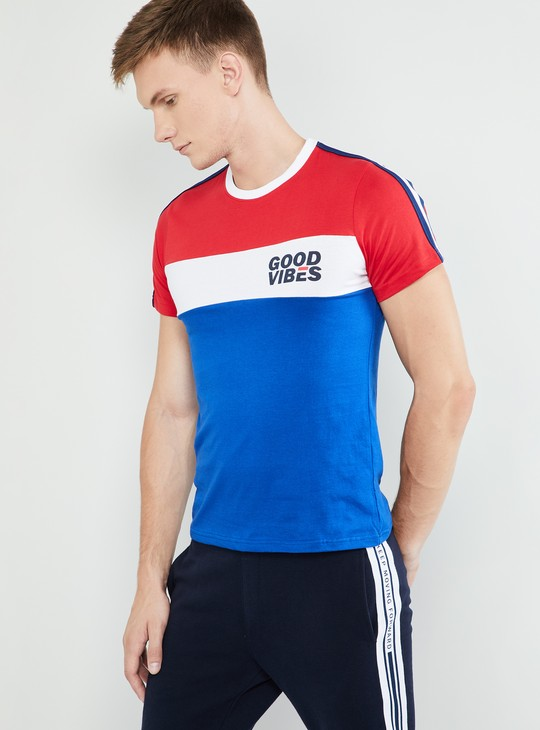 MAX Colourblock Short Sleeves Slim Fit T-shirt