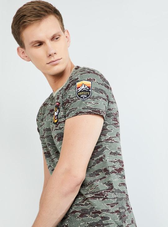MAX Camouflage Print Short Sleeves T-shirt