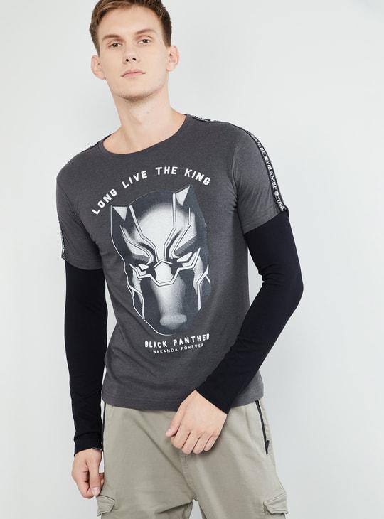 MAX Avengers Black Panther Print Twofer T-shirt
